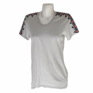 PEPIN Embroidered Short Sleeve Top